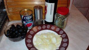 ingrediente reteta Limba de Porc cu Masline cu Sos de Rosii si Vin