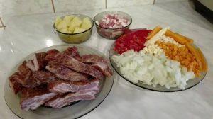 pregatirea ingredientelor - taiere legume