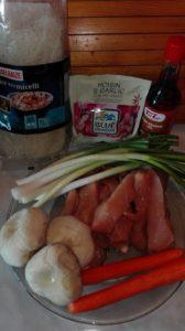 ingrediente piept de pui cu legume si taitei de orez
