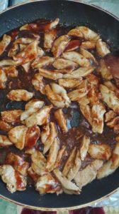 piept de pui cu sos hoisin